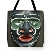 1a2923 Native American Mask Carving  Tote Bag by Ed  Cooper Photography