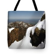 1a6485 Snow On Mt. Diablo Ca Tote Bag by Ed Cooper Photography