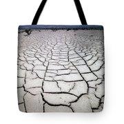 1a6832 Mud Cracks In Death Valley Tote Bag