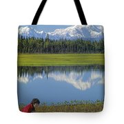 1m1326 Wife And Son In Denali National Park Tote Bag
