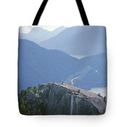 1m2918 South Summit Stawamus Chief From Second Summit Tote Bag by Ed Cooper Photography