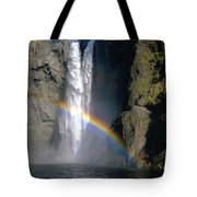 1m4716 Snoqualmie Falls And Rainbow Tote Bag