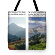 1m4903 And 1m4948 Mt. Saint Helens Before And After Wa Tote Bag by Ed Cooper Photography