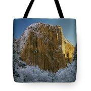 1m6576-winter On El Capitan In 1970 Tote Bag