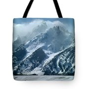 1m9314 Clouds Over The Tetons Tote Bag