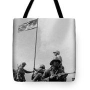1st Flag Raising On Iwo Jima  Tote Bag