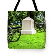 1st Mass Battery Gettysburg National Cemetery Tote Bag