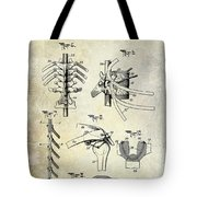 1911 Anatomical Skeleton Patent Tote Bag