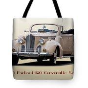 1940 Packard 120 Convertible Sedan Tote Bag