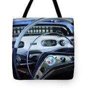 1958 Chevrolet Impala Steering Wheel Tote Bag