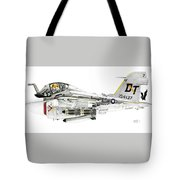 A-6e Intruder Caricature Tote Bag