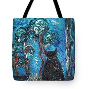 A Black Cat Tote Bag
