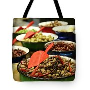 A Bowl Of Black Olives  Tote Bag