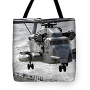 A Ch-53e Super Stallion Helicopter Tote Bag