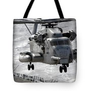 A Ch-53e Super Stallion Helicopter Tote Bag by Stocktrek Images