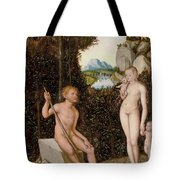 A Faun And His Family With A Slain Lion Tote Bag