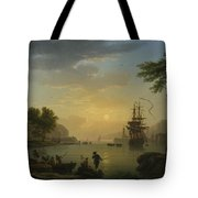 A Landscape At Sunset Tote Bag