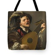 A Man Playing A Lute Tote Bag