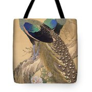 A Pair Of Peacocks In Spring Tote Bag