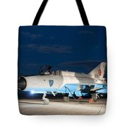 A Romanian Air Force Mig-21c Airplane Tote Bag