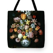 A Still Life Of Flowers Tote Bag