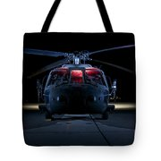 A Uh-60 Black Hawk Helicopter Lit Tote Bag