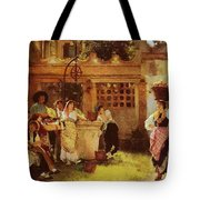 A Venetian Fan Seller Henry Woods Tote Bag