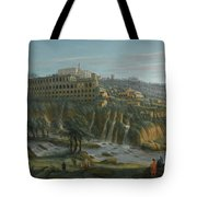 A View Of The Waterfalls And The Villa Of Maecenas Tote Bag