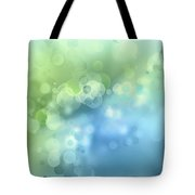 Abstract Blue Green Circles 3 Tote Bag