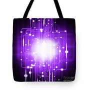 Abstract Circuit Board Lighting Effect  Tote Bag by Setsiri Silapasuwanchai