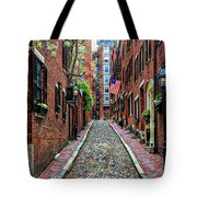 Acorn Street Boston Tote Bag