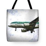 Aer Lingus Airbus A319 Art Tote Bag