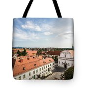 Aerial View Of Zagreb In Croatia Tote Bag
