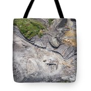 Aerial View Over The Building Materials Processing Factory. Tote Bag