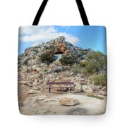 Agioi Saranta Cave Church - Cyprus Tote Bag
