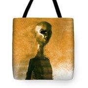 Alien Portrait Tote Bag