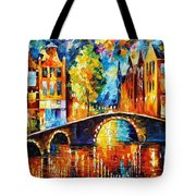 Amsterdam Tote Bag by Leonid Afremov