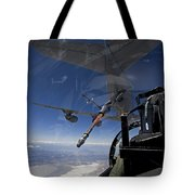 An F-15 Eagle Pulls Into Position Tote Bag