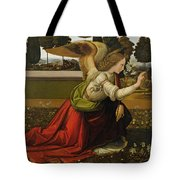 Annunciation Tote Bag by Leonardo Da Vinci