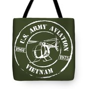 Army Aviation Vietnam Tote Bag