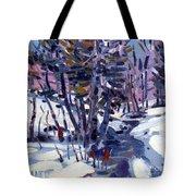 Aspen In The Snow Tote Bag