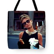 Audrey Hepburn @ Breakfast At Tiffanys Tote Bag