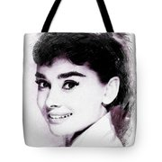 Audrey Hepburn, Vintage Actress Tote Bag