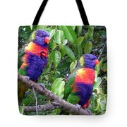 Australia - Two Brightly Coloured Lorikeets Tote Bag