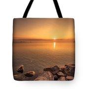 Sunrise At Sibbald Point Tote Bag