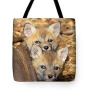 Baby Fox Kits Tote Bag