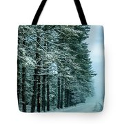 Bad Road Conditions While Driving In Winter Tote Bag