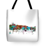Basle Switzerland Skyline Tote Bag