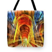 Bath Abbey Sun Rays Art Tote Bag