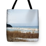 Beach And Ice Tote Bag